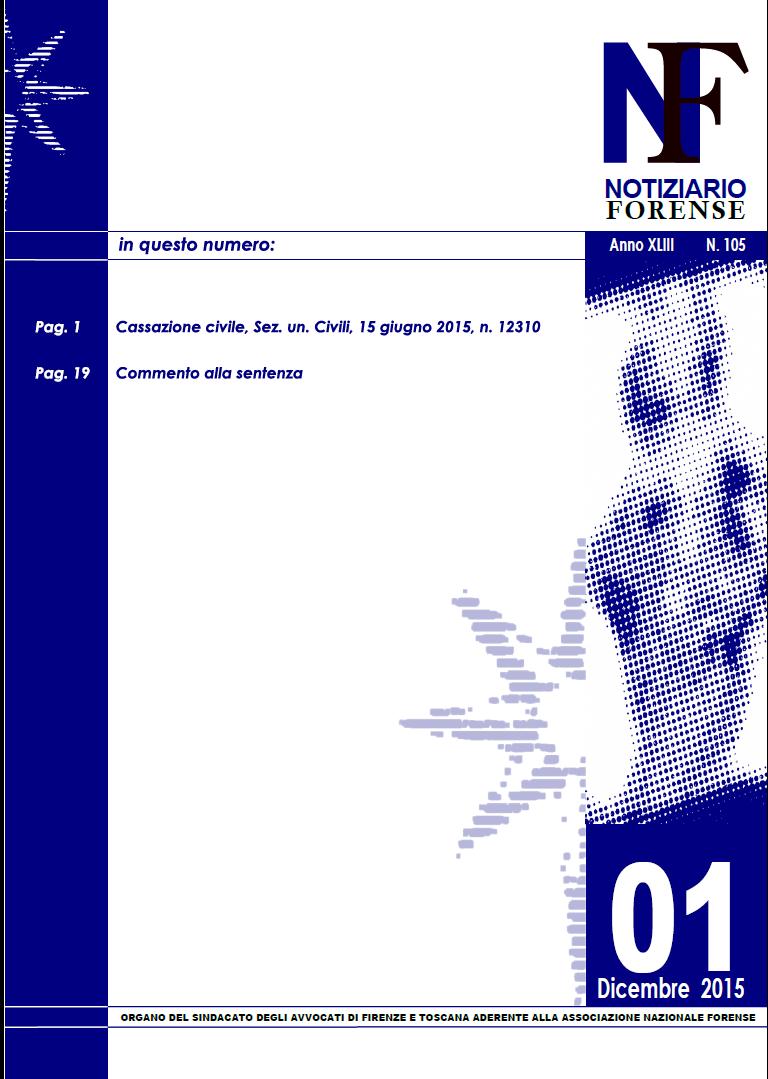 Notiziario Forense 2015