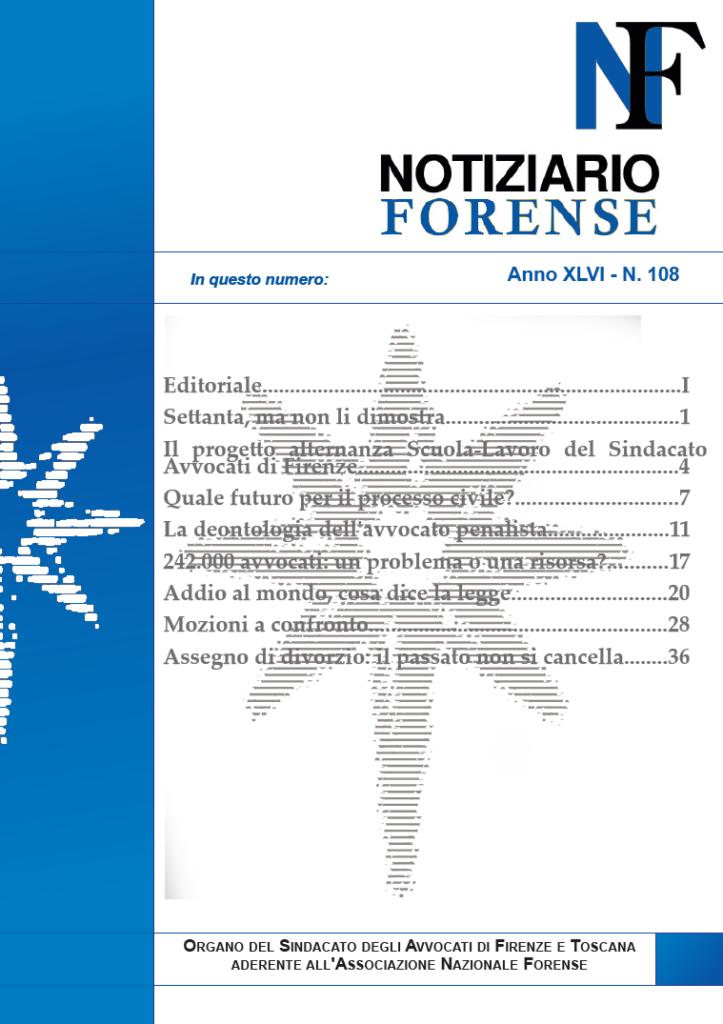 Notiziario Forense 2018